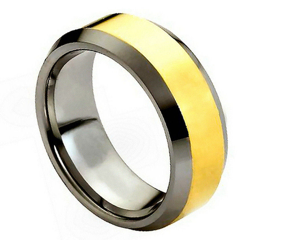 Polished Shiny Gold Plated Center & Beveled Edge