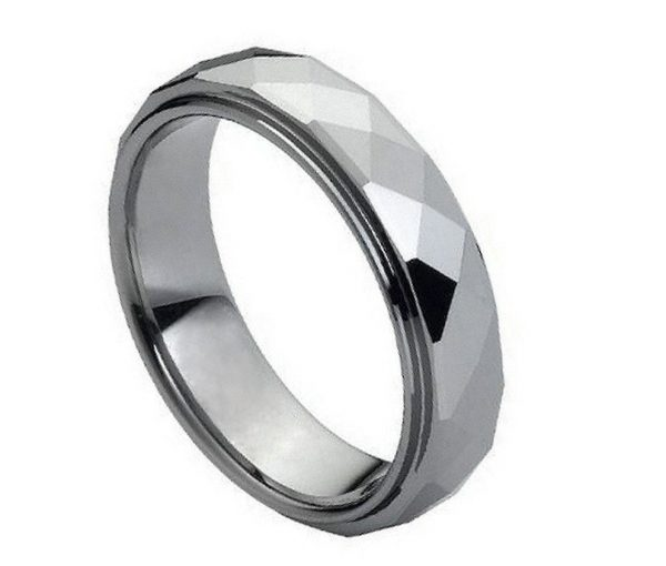 Domed Faceted Ring Stepped Edge