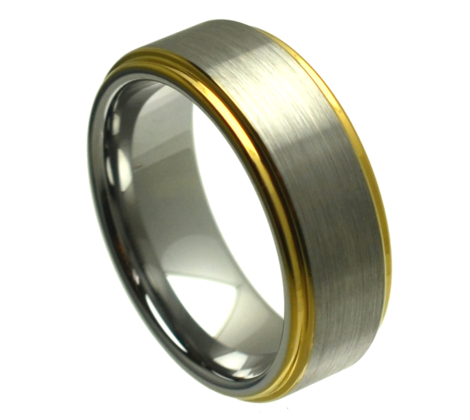 Ring Yellow Gold Plated Edge