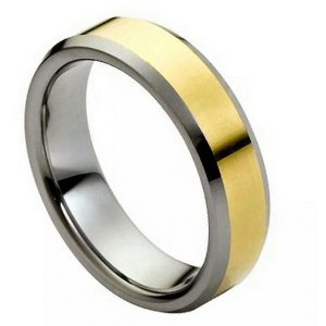 Polished Shiny Gold Plated Center & Low Beveled Edge